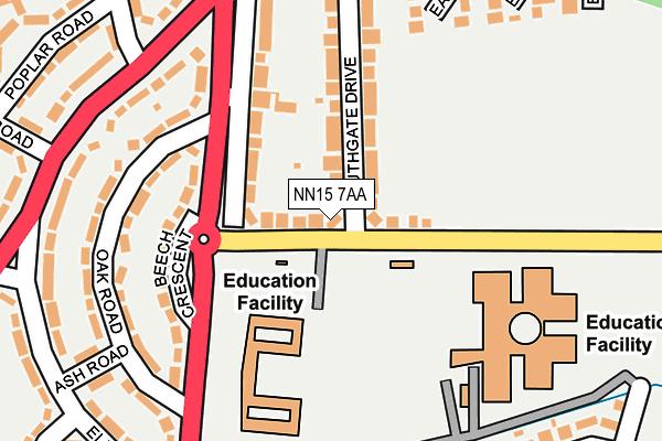 NN15 7AA map - OS OpenMap – Local (Ordnance Survey)