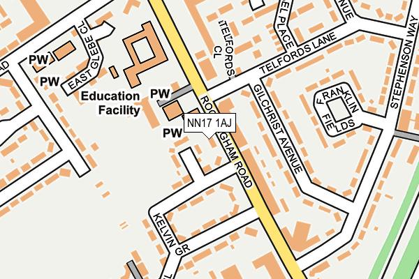 NN17 1AJ map - OS OpenMap – Local (Ordnance Survey)