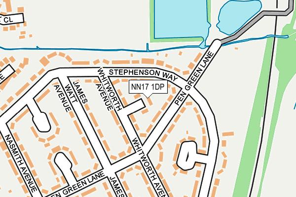 NN17 1DP map - OS OpenMap – Local (Ordnance Survey)