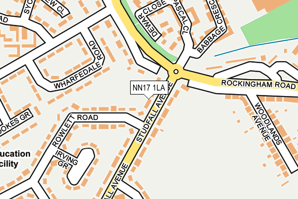 NN17 1LA map - OS OpenMap – Local (Ordnance Survey)