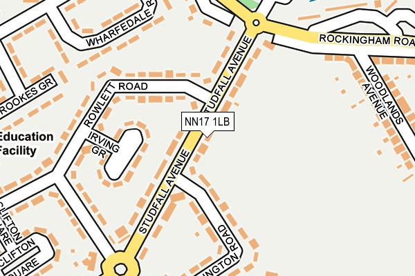 NN17 1LB map - OS OpenMap – Local (Ordnance Survey)