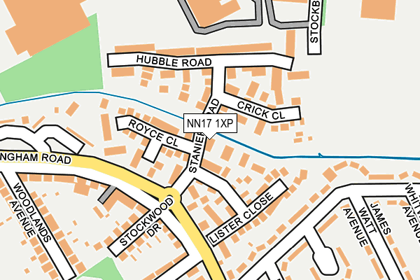 NN17 1XP map - OS OpenMap – Local (Ordnance Survey)