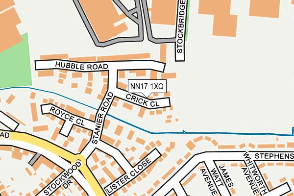 NN17 1XQ map - OS OpenMap – Local (Ordnance Survey)