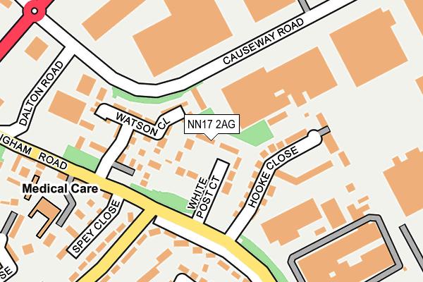 NN17 2AG map - OS OpenMap – Local (Ordnance Survey)