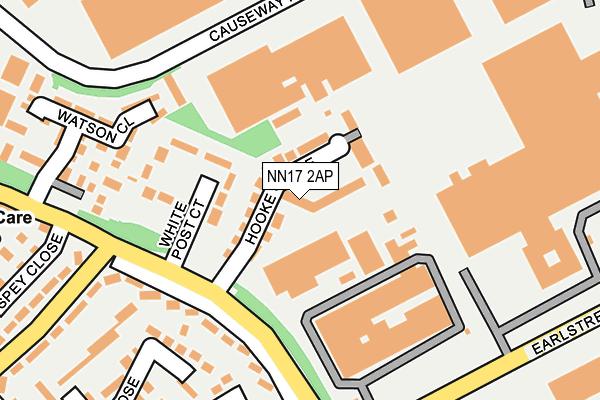 NN17 2AP map - OS OpenMap – Local (Ordnance Survey)