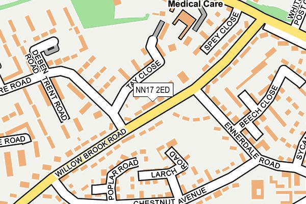 NN17 2ED map - OS OpenMap – Local (Ordnance Survey)