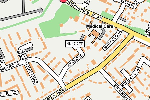 NN17 2EP map - OS OpenMap – Local (Ordnance Survey)
