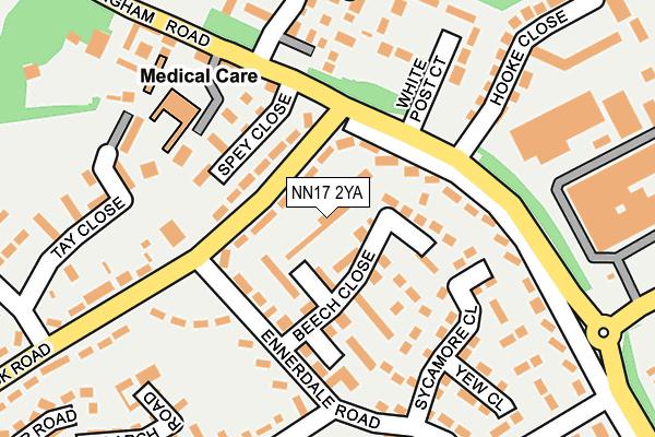 NN17 2YA map - OS OpenMap – Local (Ordnance Survey)