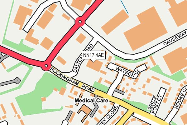 NN17 4AE map - OS OpenMap – Local (Ordnance Survey)
