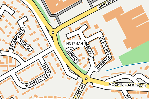NN17 4AH map - OS OpenMap – Local (Ordnance Survey)