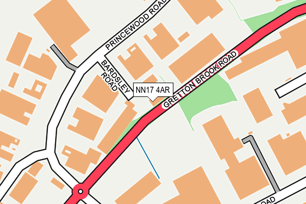 NN17 4AR map - OS OpenMap – Local (Ordnance Survey)