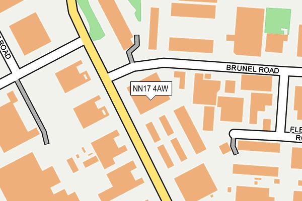 NN17 4AW map - OS OpenMap – Local (Ordnance Survey)