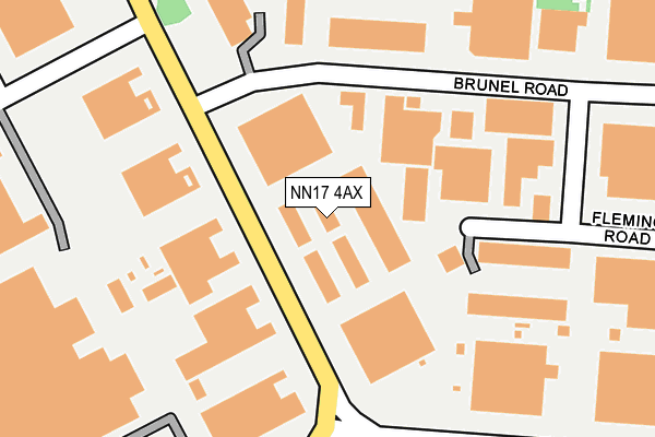 NN17 4AX map - OS OpenMap – Local (Ordnance Survey)
