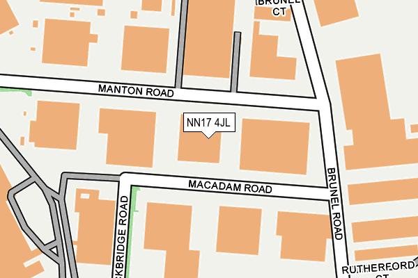 NN17 4JL map - OS OpenMap – Local (Ordnance Survey)