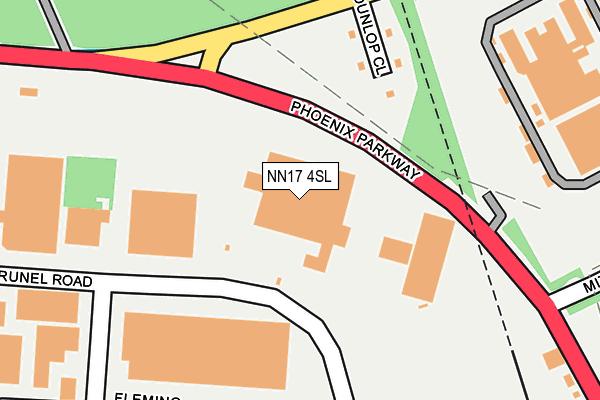 NN17 4SL map - OS OpenMap – Local (Ordnance Survey)