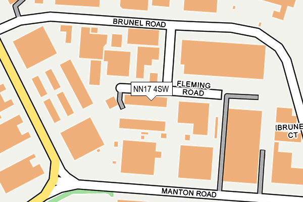 NN17 4SW map - OS OpenMap – Local (Ordnance Survey)