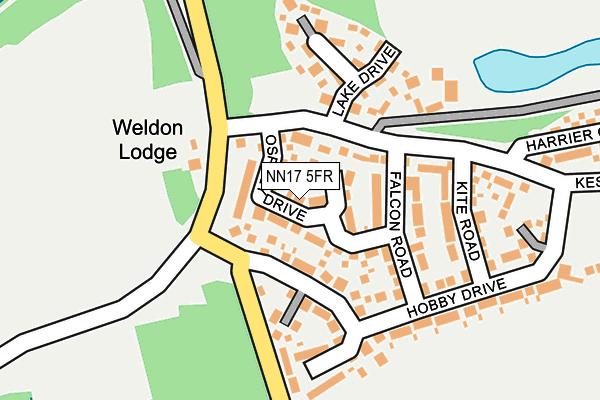 NN17 5FR map - OS OpenMap – Local (Ordnance Survey)