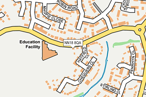 NN18 8QA map - OS OpenMap – Local (Ordnance Survey)