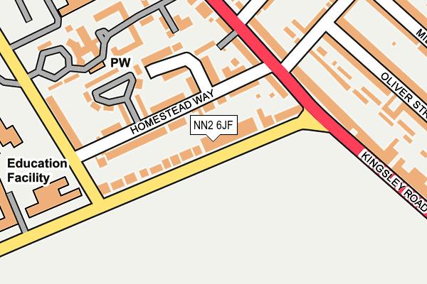 NN2 6JF map - OS OpenMap – Local (Ordnance Survey)
