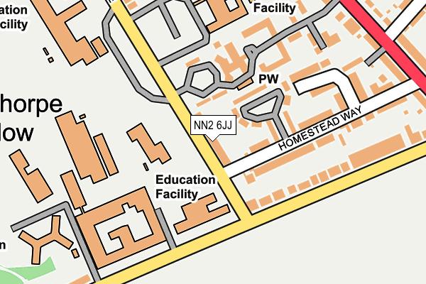 NN2 6JJ map - OS OpenMap – Local (Ordnance Survey)