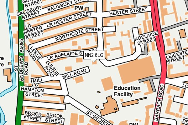 NN2 6LG map - OS OpenMap – Local (Ordnance Survey)