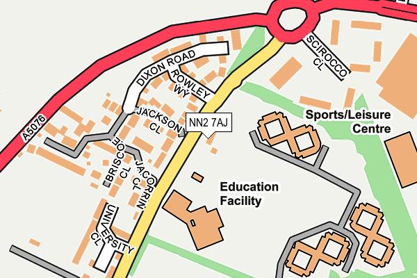 NN2 7AJ map - OS OpenMap – Local (Ordnance Survey)