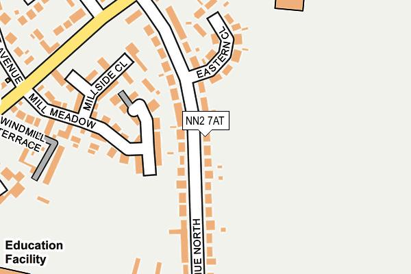 NN2 7AT map - OS OpenMap – Local (Ordnance Survey)