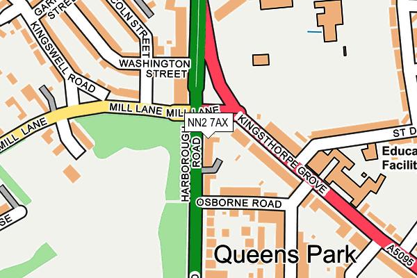 NN2 7AX map - OS OpenMap – Local (Ordnance Survey)