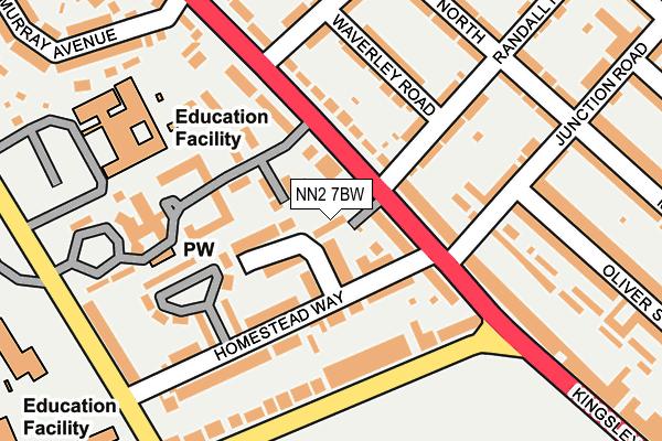 NN2 7BW map - OS OpenMap – Local (Ordnance Survey)