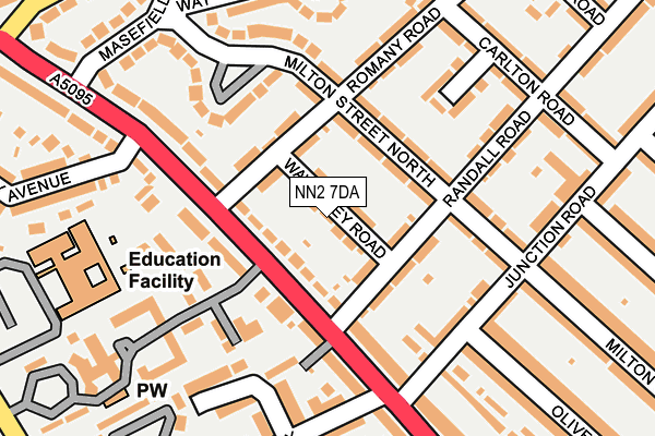 NN2 7DA map - OS OpenMap – Local (Ordnance Survey)