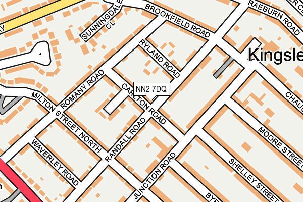 NN2 7DQ map - OS OpenMap – Local (Ordnance Survey)