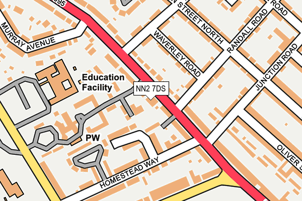 NN2 7DS map - OS OpenMap – Local (Ordnance Survey)