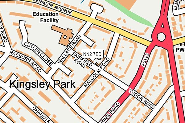 NN2 7ED map - OS OpenMap – Local (Ordnance Survey)