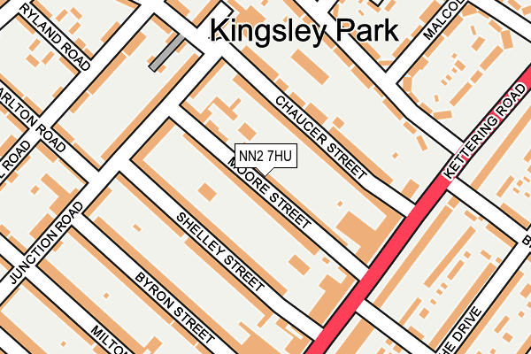 NN2 7HU map - OS OpenMap – Local (Ordnance Survey)