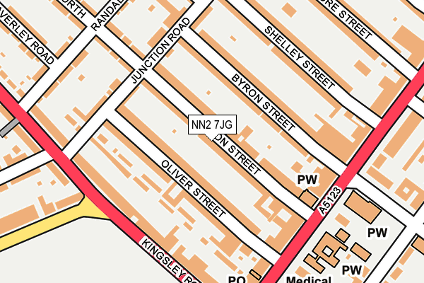 NN2 7JG map - OS OpenMap – Local (Ordnance Survey)
