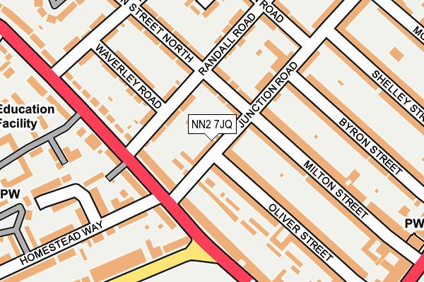 NN2 7JQ map - OS OpenMap – Local (Ordnance Survey)