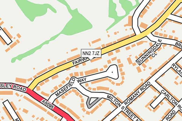 NN2 7JZ map - OS OpenMap – Local (Ordnance Survey)
