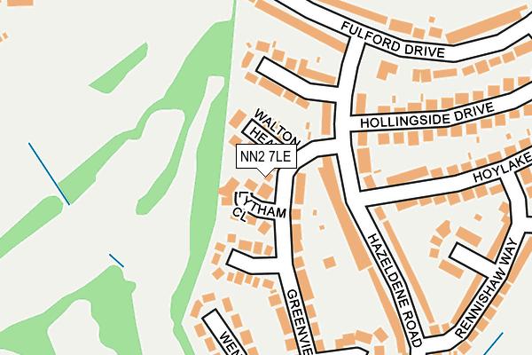 NN2 7LE map - OS OpenMap – Local (Ordnance Survey)