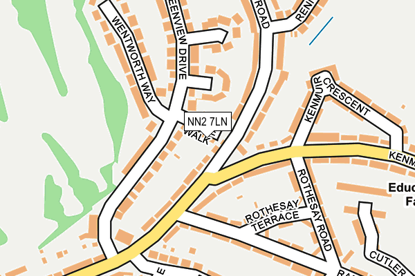NN2 7LN map - OS OpenMap – Local (Ordnance Survey)
