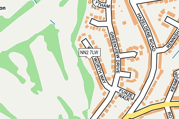 NN2 7LW map - OS OpenMap – Local (Ordnance Survey)
