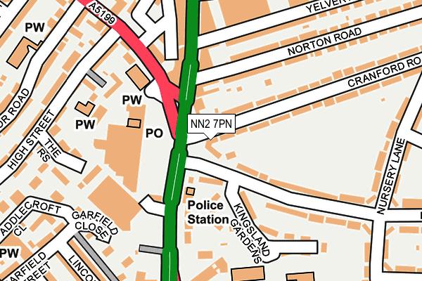 NN2 7PN map - OS OpenMap – Local (Ordnance Survey)