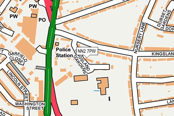 NN2 7PW map - OS OpenMap – Local (Ordnance Survey)
