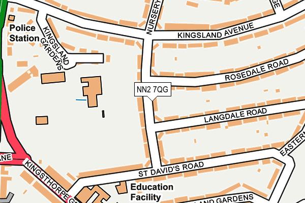 NN2 7QG map - OS OpenMap – Local (Ordnance Survey)