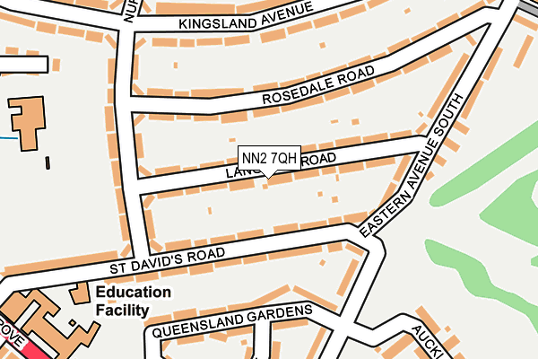 NN2 7QH map - OS OpenMap – Local (Ordnance Survey)