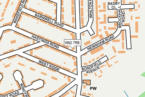 NN2 7RB map - OS OpenMap – Local (Ordnance Survey)