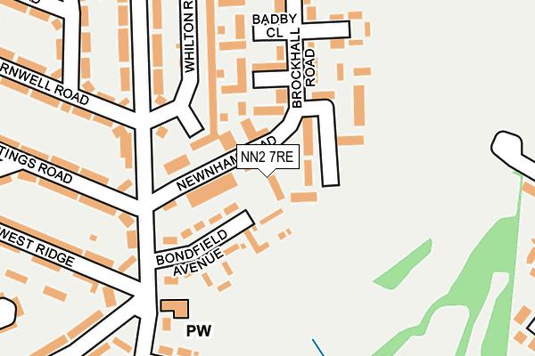 NN2 7RE map - OS OpenMap – Local (Ordnance Survey)