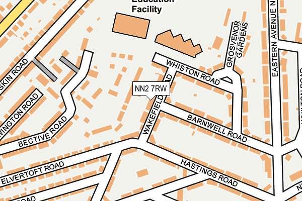 NN2 7RW map - OS OpenMap – Local (Ordnance Survey)