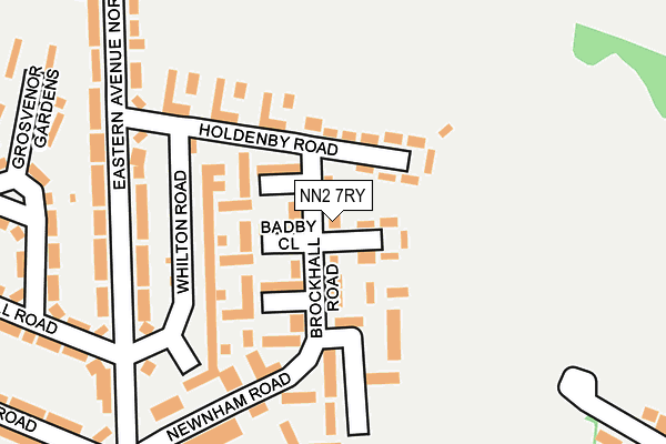 NN2 7RY map - OS OpenMap – Local (Ordnance Survey)