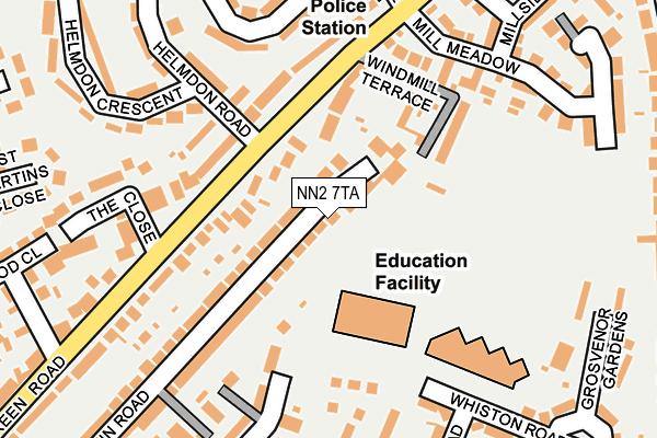 NN2 7TA map - OS OpenMap – Local (Ordnance Survey)