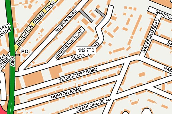 NN2 7TD map - OS OpenMap – Local (Ordnance Survey)